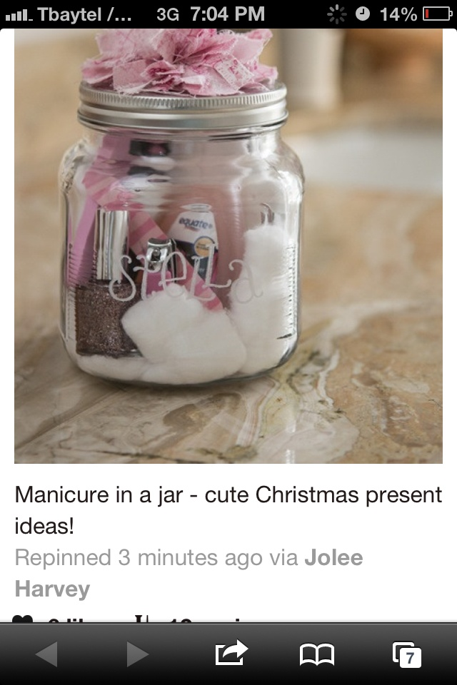 Cute simple cheap diy gift secret apple pinterest for Cute mason jar christmas gift ideas