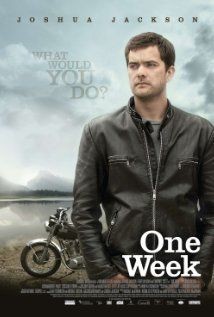 One Week: Chronicles the motorcycle trip of Ben Tyler as he rides from Toronto to Tofino, British Columbia. Ben stops at landmarks that are both iconic and idiosyncratic on his quest to find meaning in his life.