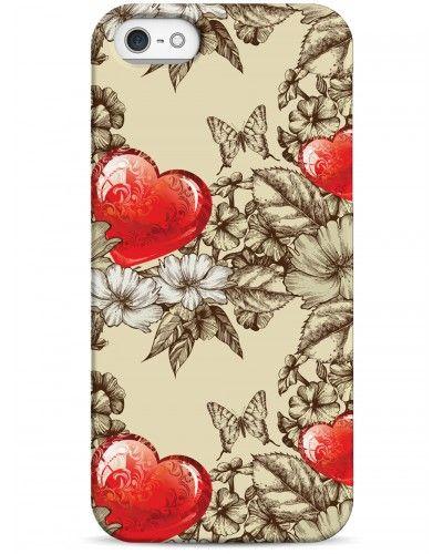 Сердечко в цветах - iPhone 5 / 5S / 5C Дизайнерские чехлы для iPhone #Sahar cases #чехлы для iPhone #love #love heart