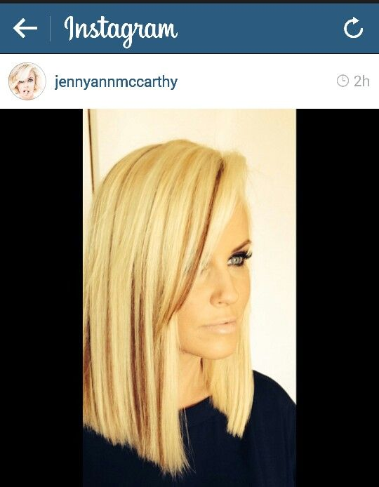 Jenny McCarthy new hair cut. Instagram