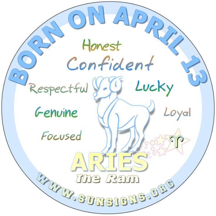 April13 Birthday horoscope, Birthday personality, March