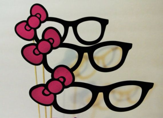 Hello kitty photo booth glasses