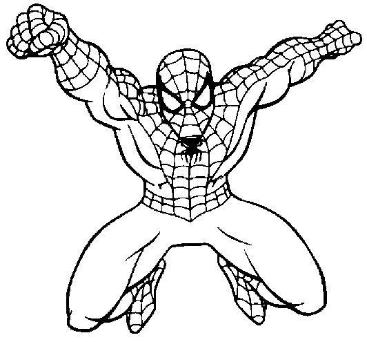 spiderman coloring pages printable spiderman coloring pages kids printable - Spiderman Coloring Page