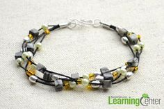 Today's tutorial tells you how to finish a multi strand bracelet. If you love this beaded multi strand bracelet, then follow me!