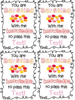 Test Note Starburst Education Testing Treats For