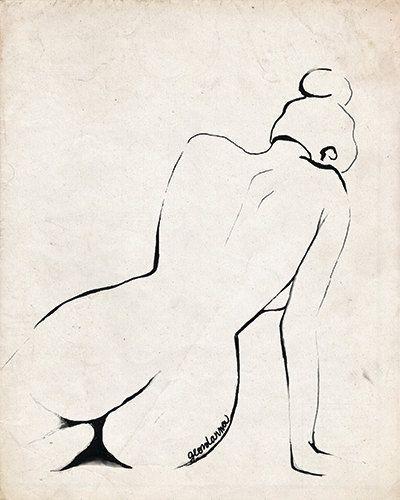 PRINT of my Original Art- Original Sketch -Ink Figure 2- Fine Art Print