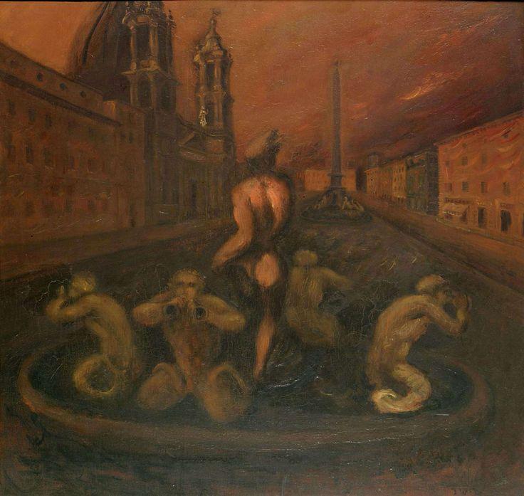 Scipione (Gino Bonichi), Piazza Navona, 1930