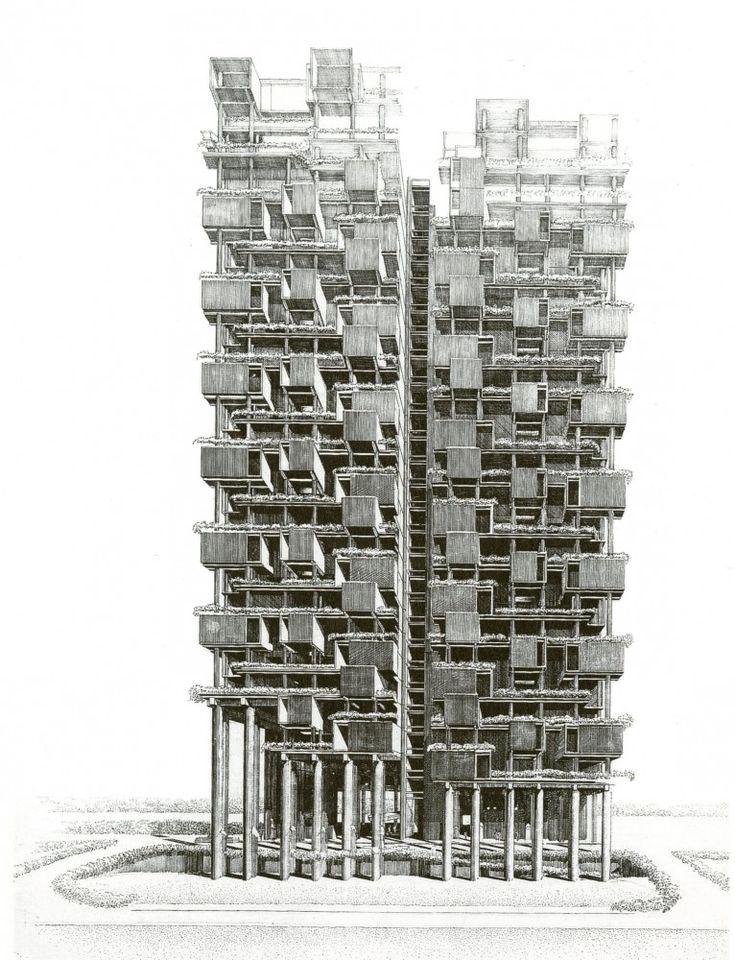 The Colonnade Condominiums.  Paul Rudolph