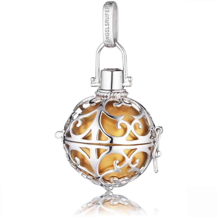 Small Silver Pendant with Gold Soundball - ENGELSRUFER - JEWELLERY