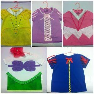 Princess shirts.  DIY - no sew.