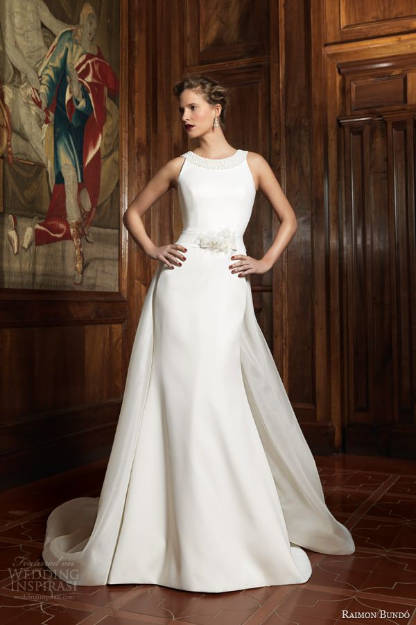 raimon bundo bridal 2014 silencio itziar sleeveless wedding dress