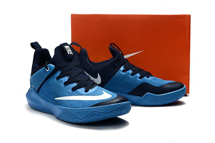 2017-2018 Newest And Cheapest Nike Zoom Shift Basketball Court Outdoors  Blue Spark Black Navy 5a2c620fc0cb