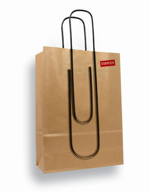 An updated Staples bag. | 31 Mind-Blowing Examples of Brilliant Packaging Design