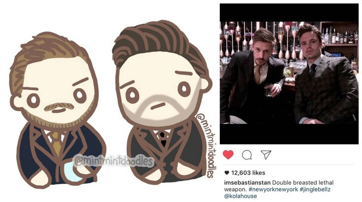 """Double breasted lethal weapon"" (I tried) #sebastianstan #willmalnati #mintmintdoodles"