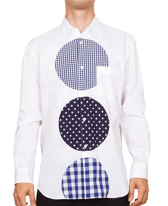 COMME des GARCONS SHIRT PATTERNED CIRCLES SHIRT