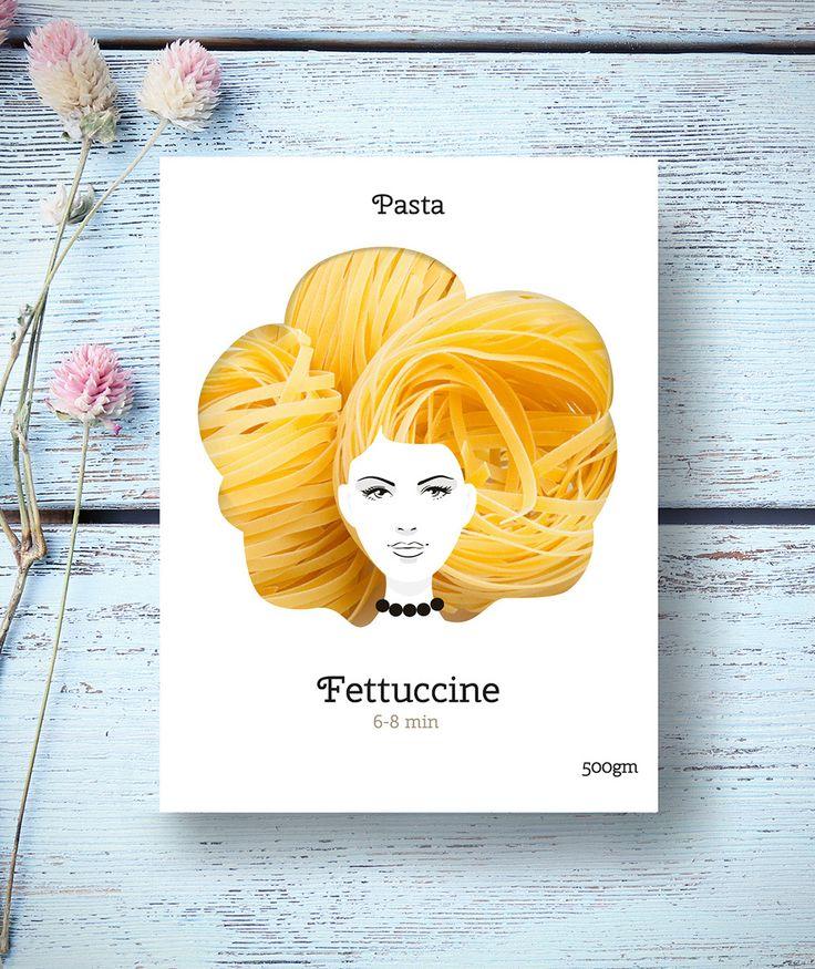 Good Hair Pasta (pâtes) | Design (concept) : Nikita, Moscou, Russie (mars 2016)