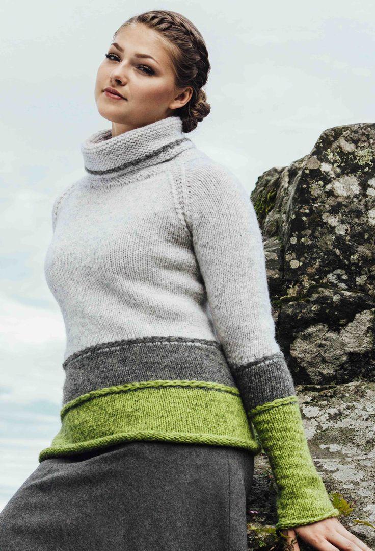Trefarget genser  Photo: Gitte Paulsbo   Design: Sidsel J. Høivik / sidselhoivik.no