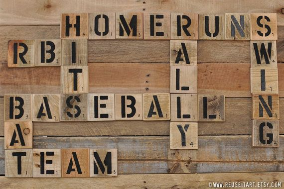 Baseball Enthusiast Pallet Art Word Collage Sports Room Wall Decor Choose Lustre Fine Art Print or Gallery Wrapped Canvas on Etsy, $25.00