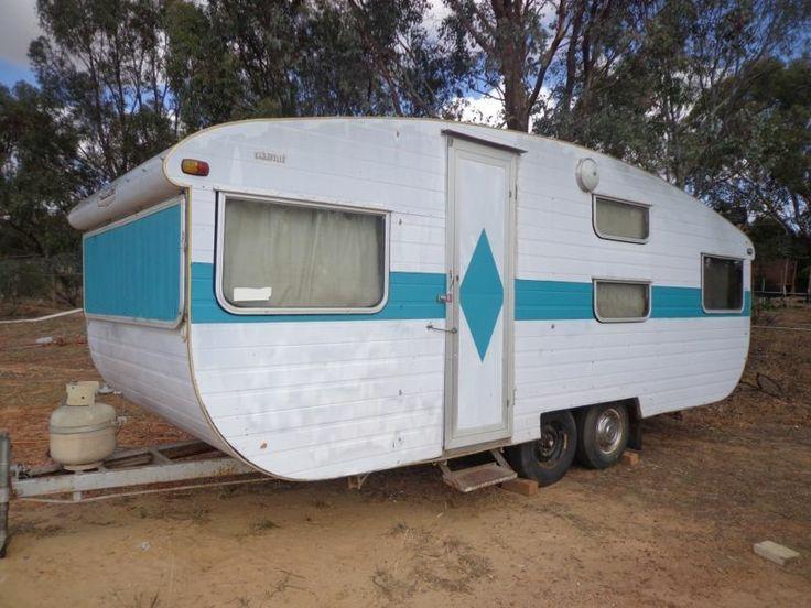 australian franklin travel caravan with blue diamond