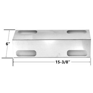 STAINLESS STEEL REPLACEMENT HEAT PLATE FOR DUCANE AFFINITY 3100, 3200, AFFINITY 3200, 3300, AFFINITY 3300 GAS GRILL MODELS