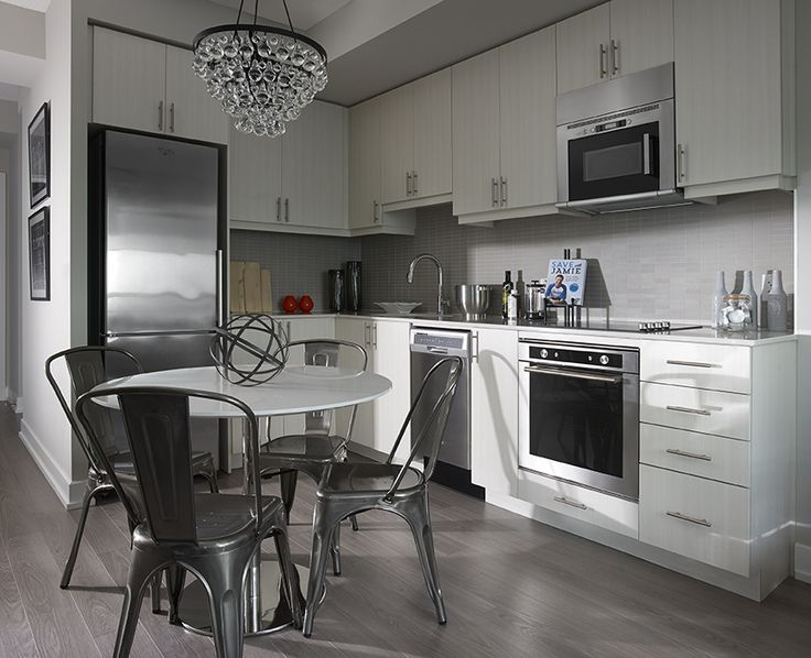 The kitchen of a new #WestVillage Decorium #ModelSuite  #torontocondo #design #contemporarydesign