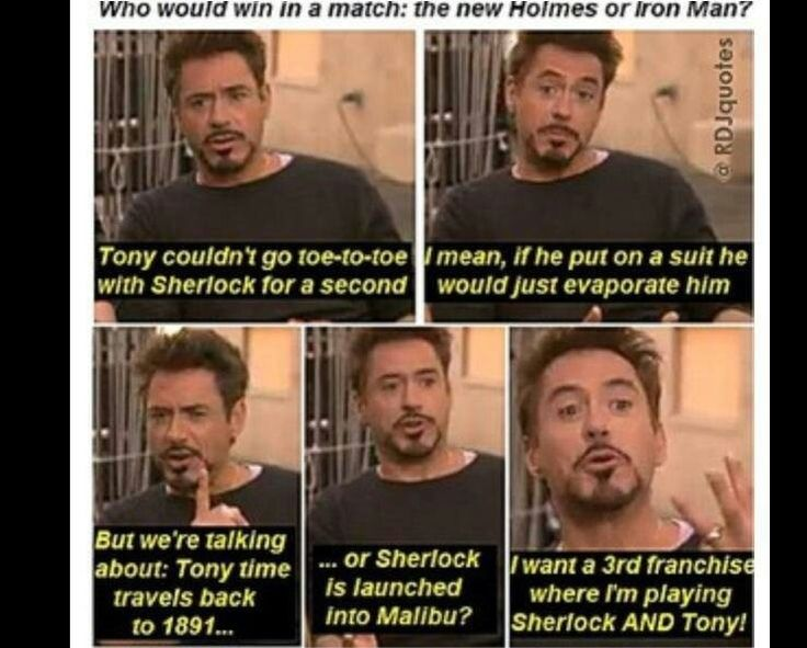RDJ - Sherlock Holmes vs. Iron Man Interview
