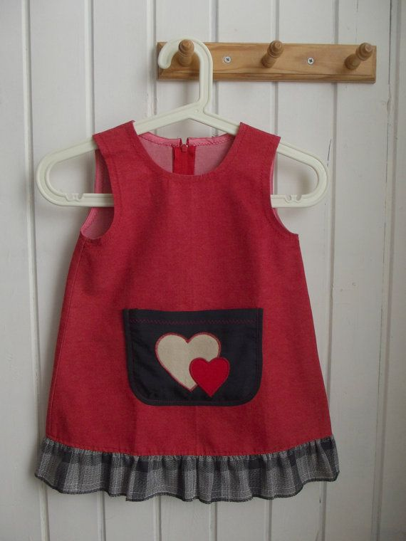SALE  Free Shipping  red sarafan dress  girl's  by ninaByou