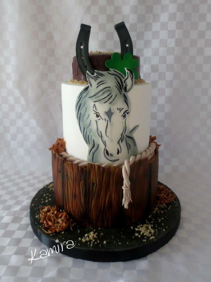 Horse Birthday Cake by Kamira