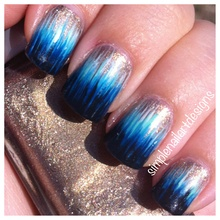 Ombre dip dye nails: video tutorial on youtube channel, simplenailartdesigns.