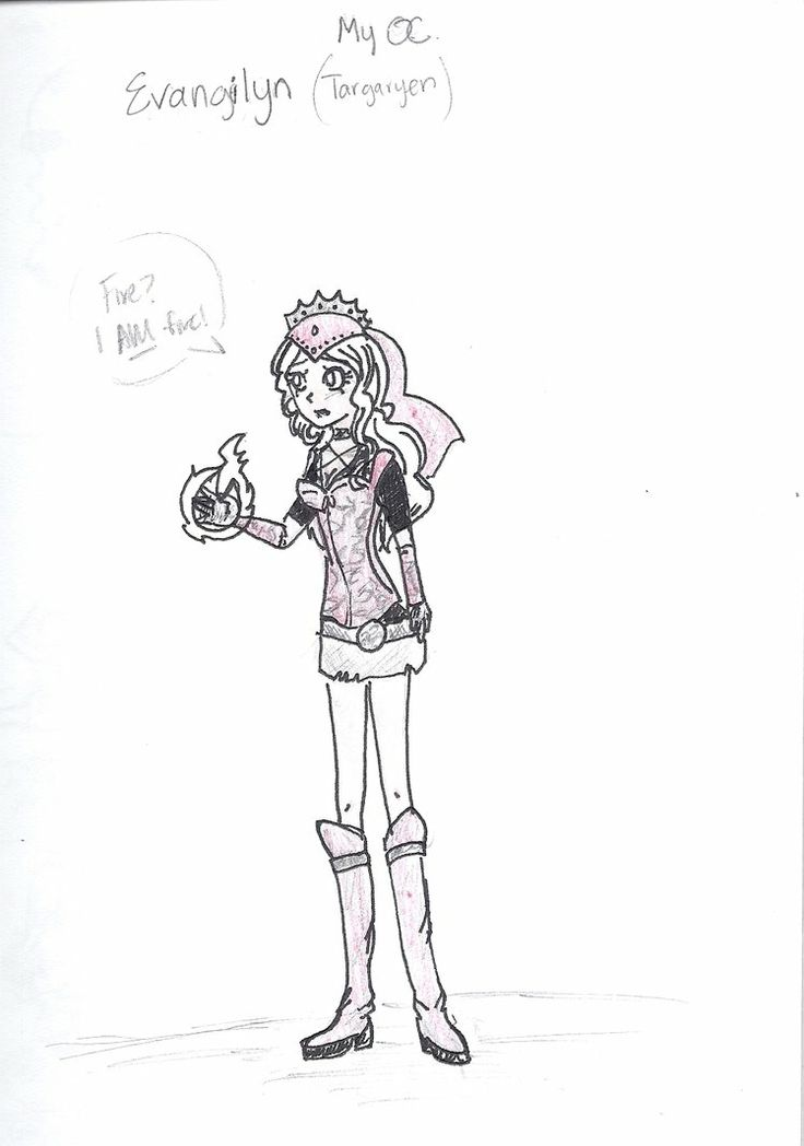 Early design of my character. her posture doesn't really match her personality.  But her outfit is right at least