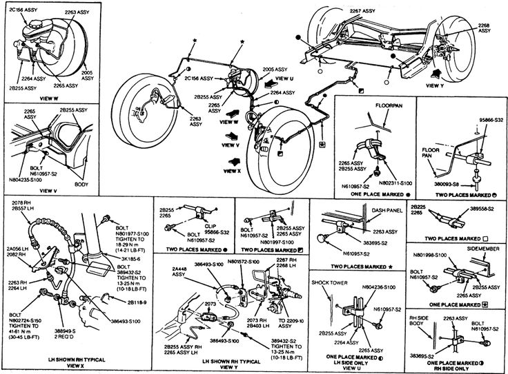 Ford       Brake       System       Diagram      Repair Guides      Brake    Operating    System         Brake    Tubing   AutoZone