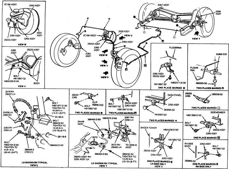 Ford Brake System Diagram | Repair Guides | Brake Operating System | Brake Tubing | AutoZone
