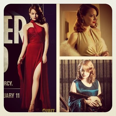 Ladies! Here's YOUR Warner Bros. Entertainment @Gangster Squad style guide: Old Hollywood glam, jewel tones, cocktail dresses, peplums, peep toes, t-straps, furs, loose curls, bright red lips, pale makeup, cat eye liner, and fascinators! See you tomorrow night at 9:30 PM! #rollingstonela #gangstersquad