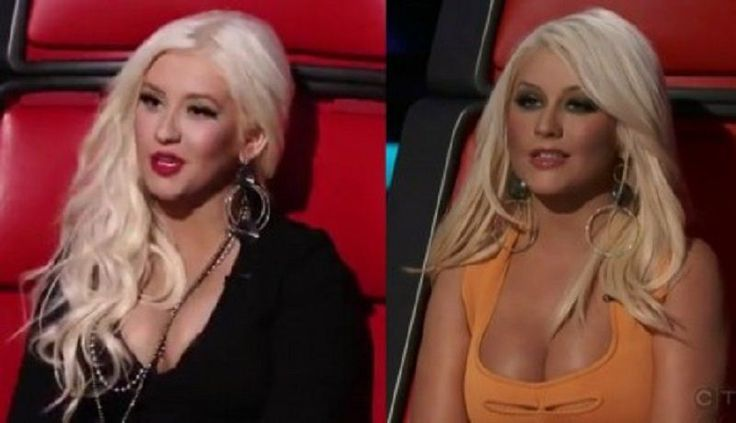 Celebrity Christina Aguilera Plastic Surgery At The Voice