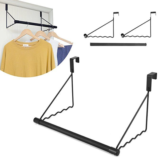 Magicfly Over The Door Closet Rod Heavy Duty Over The Door Hanger Rack With Hanging Bar For Coat Towels Holder F Over The Door Hanger Closet Rod Hanging Bar
