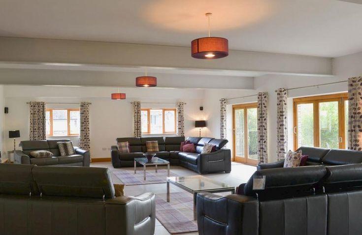 Open plan living/dining room/kitchen | 5 star, 9 bedroom, Higher Poulston Farm - Wisteria House, Harbertonford, Totnes