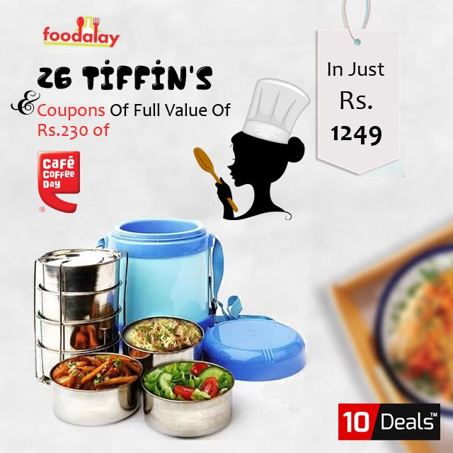 Don't have time to #cook? Order Food online from #Foodalay #tiffin delivery Service and make sure you're eating #healthy food. Get 26 Tiffin's at Your doorstep in #Mohali and #Chandigarh With Full Value Coupon Of #CCD in just Rs.1249