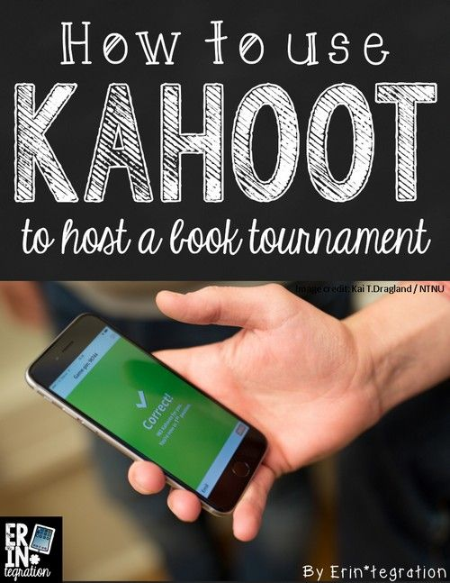 Using the free web app Kahoot to host a book tournament