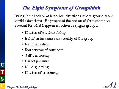 the symptoms of groupthink and its effects on business decisions In a business setting, groupthink can some organizations have no clear rules upon which to make decisions groupthink symptoms or traits of groupthink.