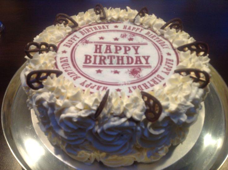 Slagroom taart happy birthday