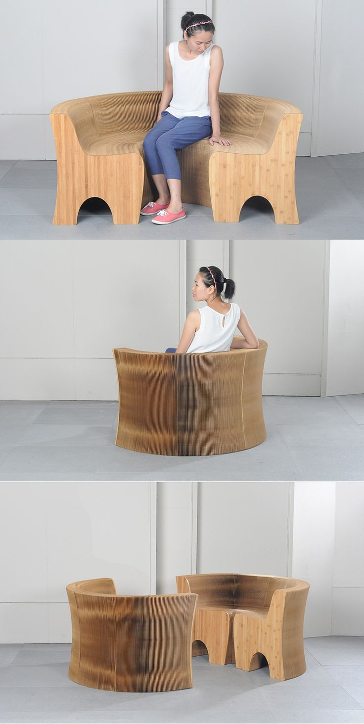 High Quality Furniture/portable Telescopic Organ Sofa / Folding Chair/  Creative Indoor Corrugated Board