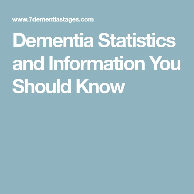Dementia Statistics and Information You Should Know