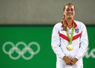 Medal - Puig, Monica - Tennis - Puerto Rico - Women's Singles - Women's Singles Gold Medal Match - Olympic Tennis Centre