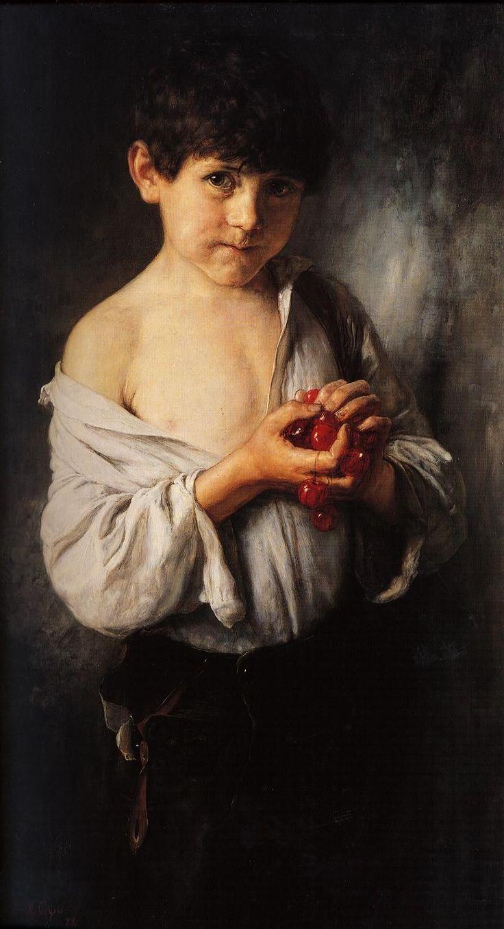 Boy with Cherries by Nikolaos Gyzis
