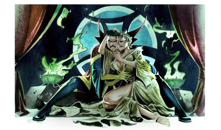Dr. Strange and Clea by Thony Silas Dias de Aguiar