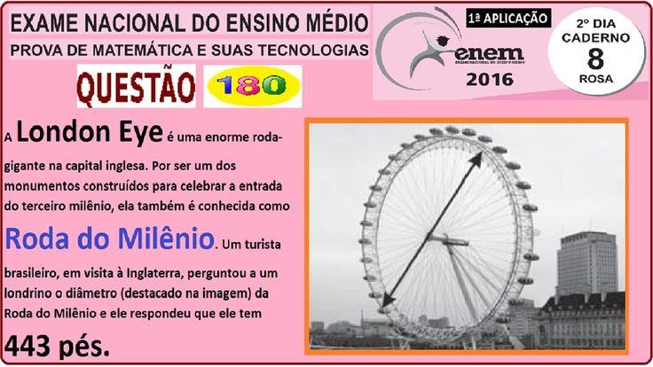 CURSO DE MATEMÁTICA ENEM 2016 QUESTÃO 180 PROVA ROSA RESOLVIDA EXAME NAC... https://youtu.be/4qMJ7OKkHjA