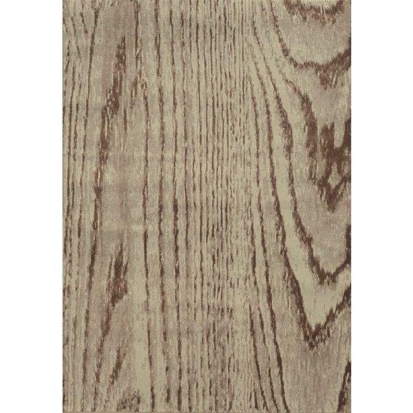 Style Haven Wood Grain Stone/ Brown Rug (1 985 SEK) ❤ Liked On