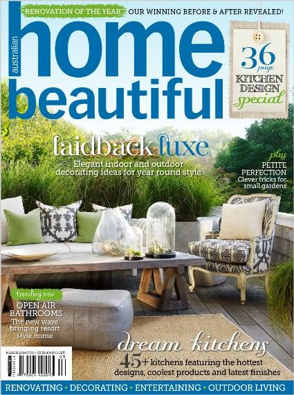 Home Beautiful March 2014. Clipped from Home Beautiful using Netpage.