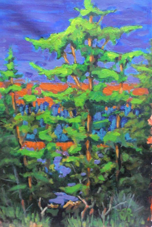 the art work of Canadian landscape painter Jim Robertson