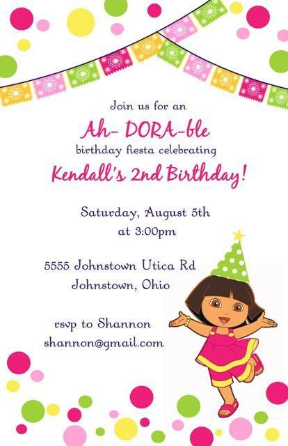 Dora birthday invitation by LittleLawsPrints on Etsy, $25.95